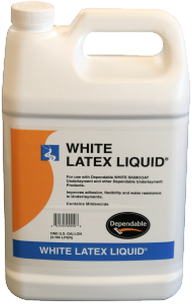 Dependable White Latex Liquid - 1 Gal. Jug