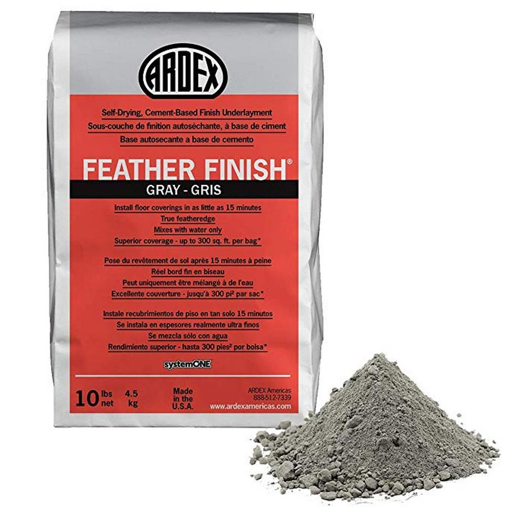 Ardex Feather Finish Grey/Gray/Gris Self-Drying Cement Based Bag - 10 Lbs